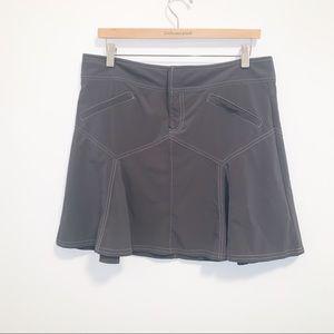 Athleta Slate Grey Pleated Hiking Skirt-10
